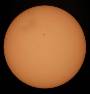 Merkurius och solfläckar