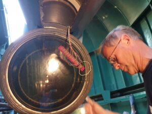 Cleaning of the telescope and inside the dome in Uppsala observatorie 190815